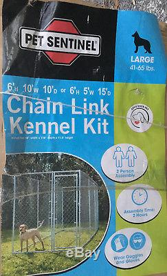 10 x 10 x 6 Outdoor Dog Kennel fence pen door chain link exercise cage OR 5 x 15