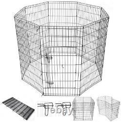 (120cm height) Yescom 24/30/36/2.2cm H Pet Dog Playpen Exercise Fence Cage