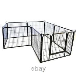 16Panel Fence Pet Play Pen Exercise Puppy Kennel Cage Dog Playpen Crate US STORE