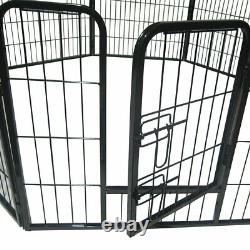 16 Panel 24 Heavy Duty Metal Dog Cat Exercise Fence Playpen Kennel Safe For Pet