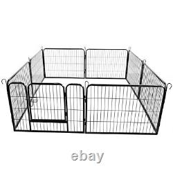 16 Panel Heavy Duty Metal Cage Crate Pet Dog Exercise Fence Playpen Kennel