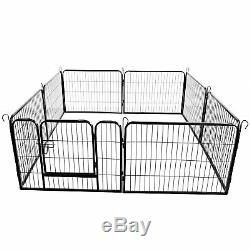 16 Panel Heavy Duty Metal Cage Crate Pet Dog Playpen Exercise Pen Fence Kennel