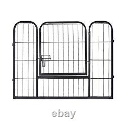 16 Panel Pet Dog Exercise Fence Playpen Kennel Detachable Metal Cage Crate Home