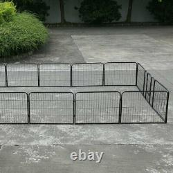 16 Panel Playpen Exercise Foldable Pet Play Pen Puppy Dog Animal Cage Run Fence