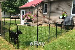 16 Panels Dog Pen Playpen Extra Large Pet Exercise Kennel with 2 Gate Foldable