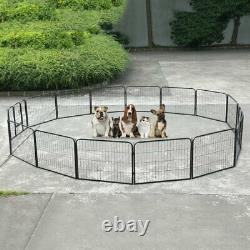 16 panel 24''H Metal Pet Playpen for Pet Dog Exercise Outdoor Fence Cage Fencing