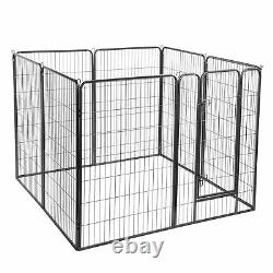 22 square feet Dog Playpen Crate Fence Pet Play Pen Exercise Cage -8 Panel