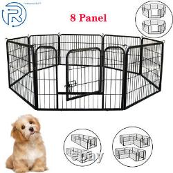 2431.5 Heavy Duty Metal Dog Cat Exercise Playpen Kennel 8 Panel Safe for Pet