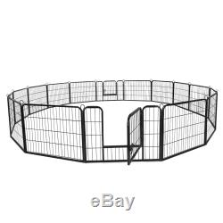 24Tall 16 Panel Pet Playpen DIY Dog Exercise Pen Fence Have Fun Outside Inside
