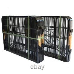 24 16 Panels Tall Dog Playpen Large Crate Fence Pet Play Pen Exercise Cage