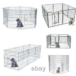 24 30 32 36 40 42 48 Dog Playpen Cages Fence Pet Play Pen Exercise Cage -8 Panel