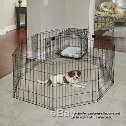 24 30 36 42 48 Tall Dog Playpen Crate Fence Pet Play Pen Exercise Cage Dif Color