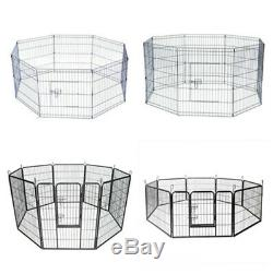 24/30/40inch Tall Dog Playpen 8 Panel Crate Fence Pet Play Pen Exercise Cage