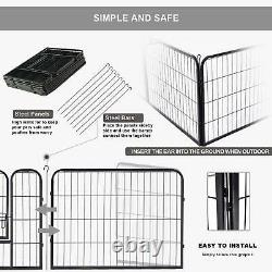 24 32 Inch 8 16 Panels Tall Dog Playpen Crate Fence Pet Play Pen Exercise Cage