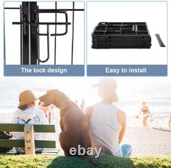 24 8 Panel Dog Cage Outdoor Pet Playpen Cat Fence HEAVY DUTY Exercise Pen