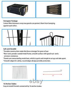 24 Heavy Duty Metal Dog Cat Exercise Fence Playpen Kennel 16 Panel Safe For Pet