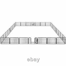 24 Tall 32-Panel Heavy Duty Dog Playpen Exercise Fence Kennel Outdoor/Indoor