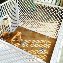 24 Tall Dog Playpen Crate PP Resin Fence Pet Play Pen Exercise Cage 4 Panel N5