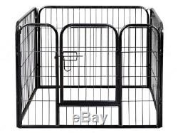 24-inch Tall Dog Playpen Crate Fence Pet Play Pen Exercise Cage 16Panels SET EO