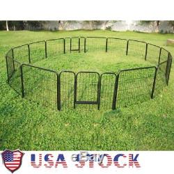 2X8 Panels Dog Pet Exercise Cage Metal Puppy Cat Play Pen Heavy Duty 24