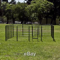 2 x 40 8 panel Pet Dog Cat Exercise Pen Playpen Fence Yard Kennel Crate Guard