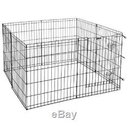 30 High Dog Fence Pet Playpen Exercise Kennel Gate Crate Adjustable Cage Di
