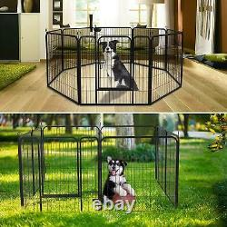 31X40 Heavy Duty Pet Playpen Dog Kennel Pen Exercise Cage Fence 8 Panel