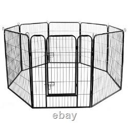 31.5 Inch 8 Panels Tall Dog Playpen Large Crate Fence Pet Play Pen Exercise Cage