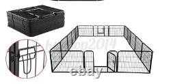 32 Dog Playpen Crate 16 Panel Fence Pet Play Pen Exercise Puppy Kennel Cage