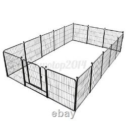 32 Inch 16 Panels Tall Dog Playpen Large Crate Fence Pet Play Pen Exercise Cage