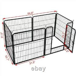 32 Inch 6 Panels Tall Dog Playpen Large Crate Fence Pet Play Pen Exercise Cage