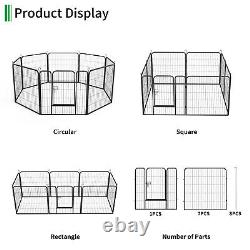 32 Portable Pet Playpen Puppy Dog Heavy Duty Steel Cage 8-Panel Fences Exercise