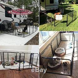 32-inch 8 Panel Metal Dog Pen Playpen Foldable Yard Puppy Cat Exercise Barrier