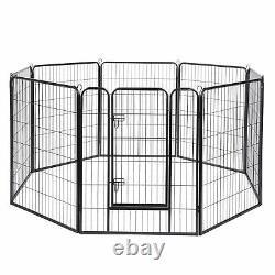 32x40 Pet Playpen Extra Large Dog Exercise Fence Panel Crate Camping 8 Pieces