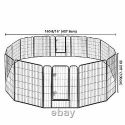 32x40 Pet Playpen Extra Large Dog Exercise Fence Panel Crate Yard 16 Pieces
