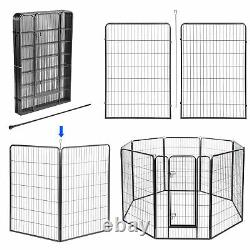 32x48 Pet Playpen Extra Large Dog Exercise Fence Crate Outdoor Yard 32 Panel