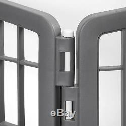34 8 Panels Dog Cage Outdoor Playpen Pet Cat Fence HEAVY DUTY Exercise Kennel