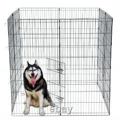 36 48 Tall Wire Fence Pet Dog Cat Folding Exercise Yard 8 Panel Metal Play Pen
