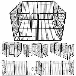 39H Detachable Safety for Pet 8 Panel Dog Playpen Exercise Fence Kennel Crate