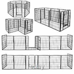 39H Detachable Safety for Pet Puppy 8 Panel Dog Playpen Exercise Fence Kennel