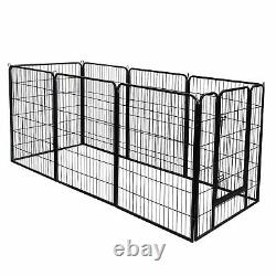 39H Durable Safety for Pet Puppy 8 Panel Dog Playpen Exercise Fence Kennel