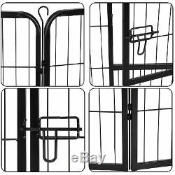 39Tall Foldable 8Panel Sturdy Dog Playpen Fence Small Animals Play Pen Exercise