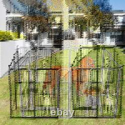 39'' Dog Playpen Crate 8 Panel Fence Pet Play Pen Exercise Cage Kennel Cage Yard