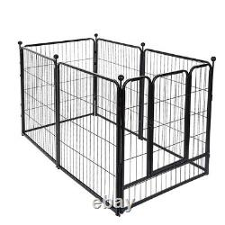39 Heavy Duty Metal Dog Cat Exercise Fence Playpen Kennel 6 Panel Safe For Pet