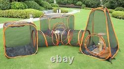 3 in 1 Portable Pet Dog Cat Tent Playpen Folding Exercise Play Soft Crate Kennel