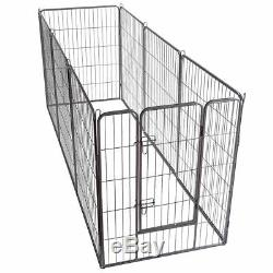 40'' 8 Metal Panel Heavy Duty Pet Playpen Dog Exercise Pen Cat Fence Safety Gate