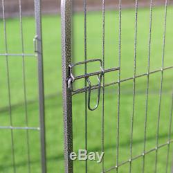40 8 Metal Panel Heavy Duty Pet Playpen Dog Exercise Pen Cat Fence Safety Gate