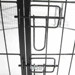 40 Dog Pet Playpen Heavy Duty Metal Exercise Fence Hammigrid 8 Panel Silver