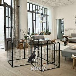 40 H Dog Playpen Outdoor 8-Panel Heavy Duty Metal Exercise Fence for Dogs Pets
