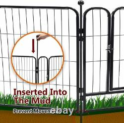 40'' Heavy Duty Metal Dog Cat Exercise Fence Playpen Kennel 8 Panel Safe For
